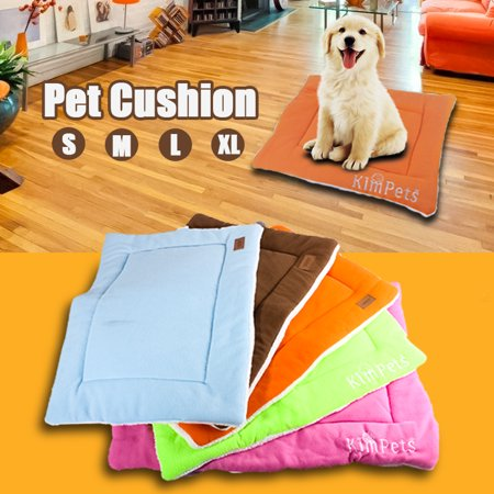 (Pet Dog Cat Bed Cushion Mat Pad Kennel Crate Cozy Warm Soft House S M L XL Size)