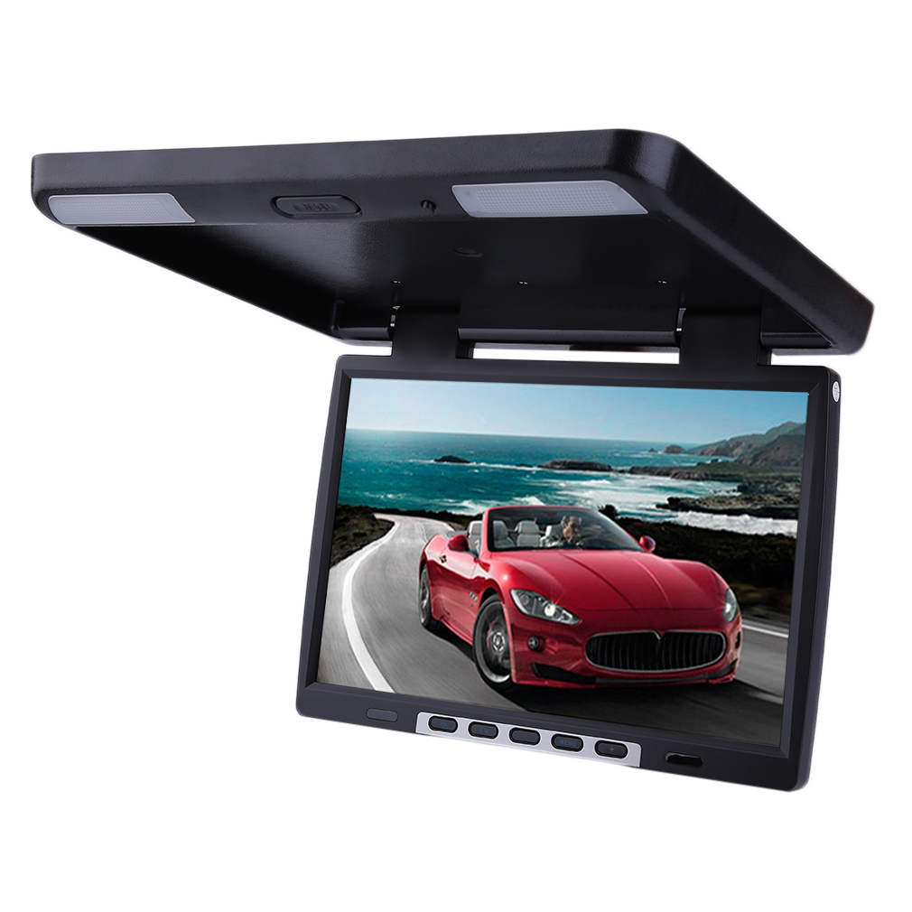 15.4 Inch LCD TFT Roof Mount Ceiling Flip Down Cars Monitor TV DVD Player 154AV by Generic