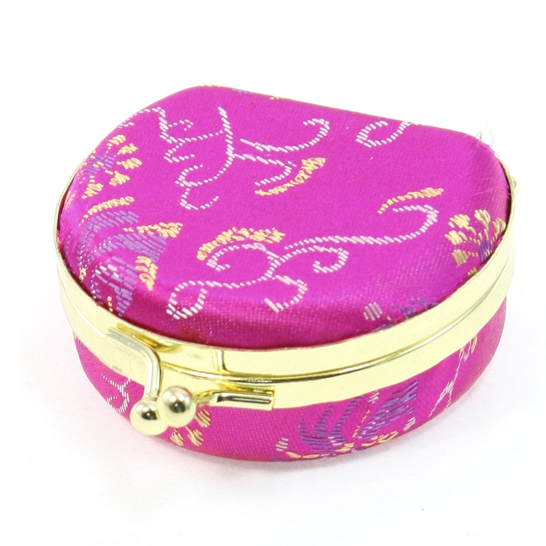 Embroidered Metal Closure Lock Jewelry Box for Earrings Necklace