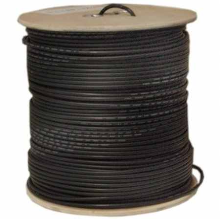 Shielded 1000 Spool (Bulk RG58/AU Coaxial Cable, Black, 20 AWG, Copper Stranded Center Conductor, Braided Shield, Spool, 1000)