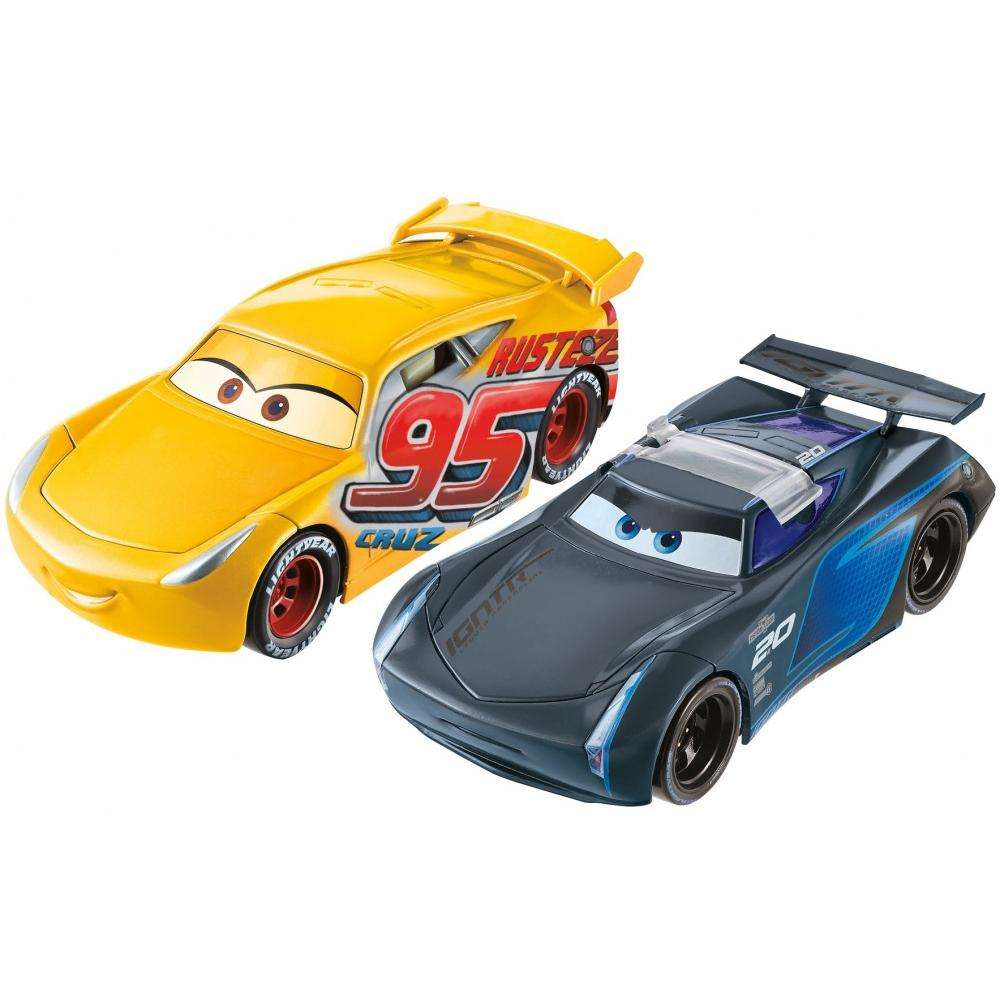Disney Pixar Cars 3 Flip To The Finish Rust-Eze Cruz Ramirez & Jackson Storm Vehicles
