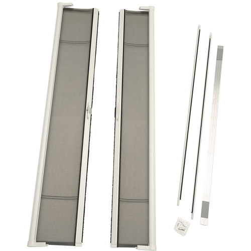 """ODL Brisa White Tall Double Door Single Pack Retractable Screen for 96"""" In-Swing or Out-Swing Doors"""
