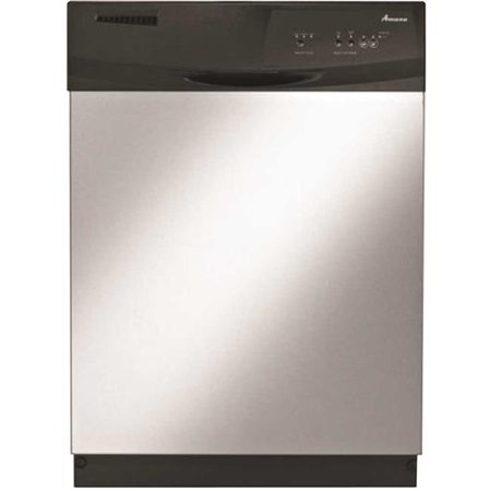 Whirlpool Adb1300Afs Amana Built-In 24 In  Tall Dishwasher With Electronic  Front Controls Stainless Steel 3 Cycles