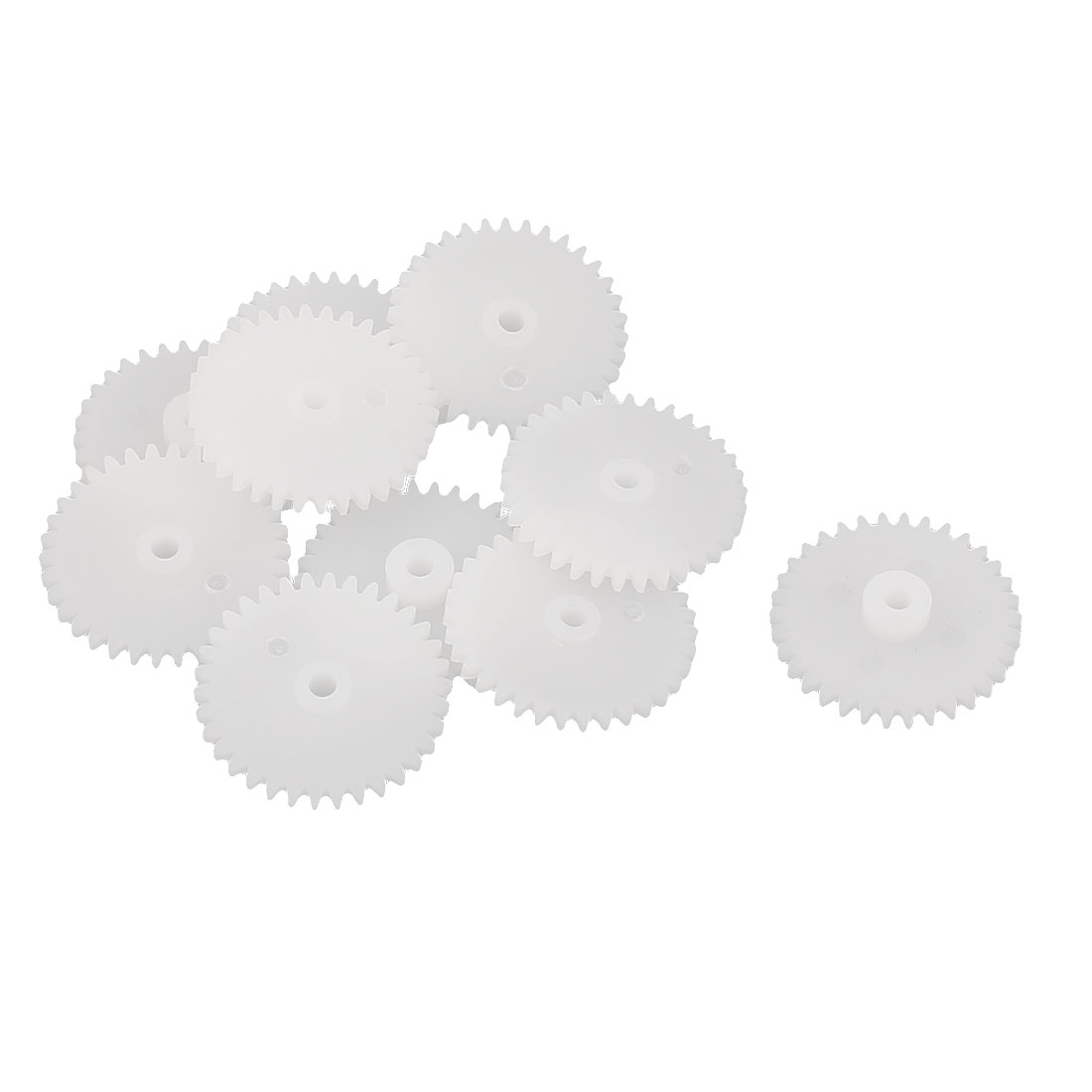 10Pcs 34 Teeth 0.5 Modulus Plastic Single Reduction Motor Gear for RC Airplane by