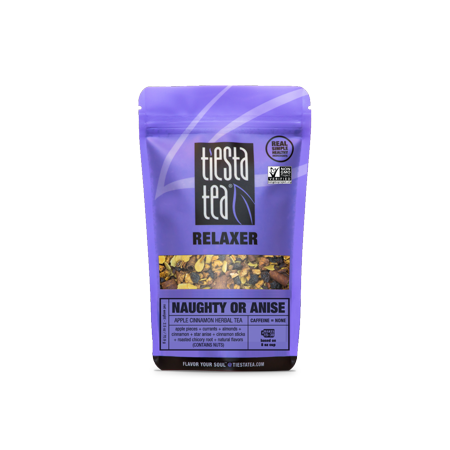 Tiesta Tea Relaxer, Naughty or Anise, Loose Leaf Herbal Tea Blend, Caffeine Free, 2.5 Ounce Pouch