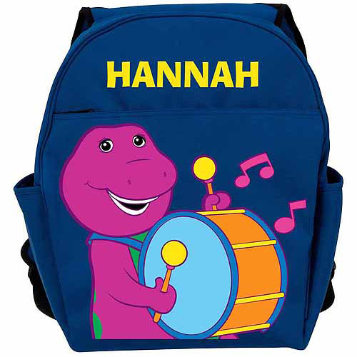 Personalized Barney Sing-a-Long Blue Backpack