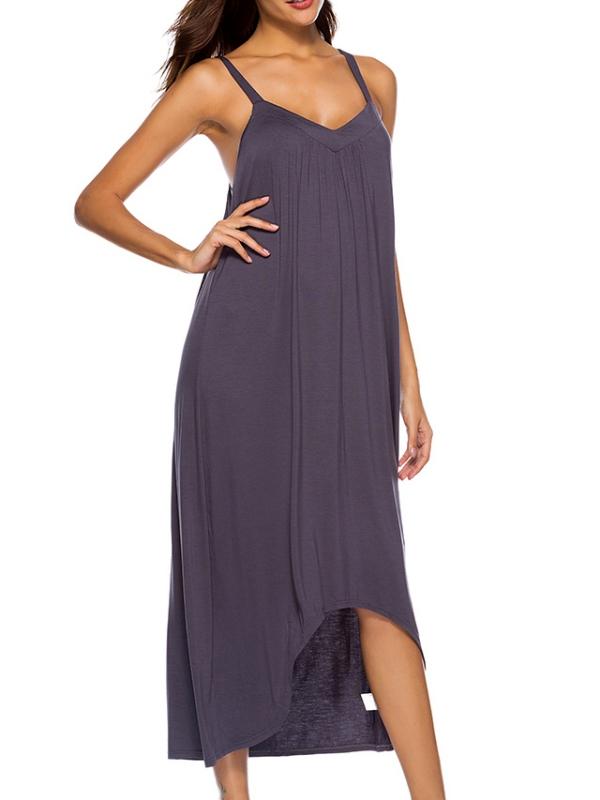 6972513ca2 OUMY - OUMY Womens Nightgown Sleepwear Pajamas Strappy Sleep Dress  Nightshirt - Walmart.com
