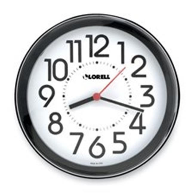 Lorell LLR60990 Horloge murale-9in -. Chiffres-arabe cadran blanc-Black Frame - image 1 de 1
