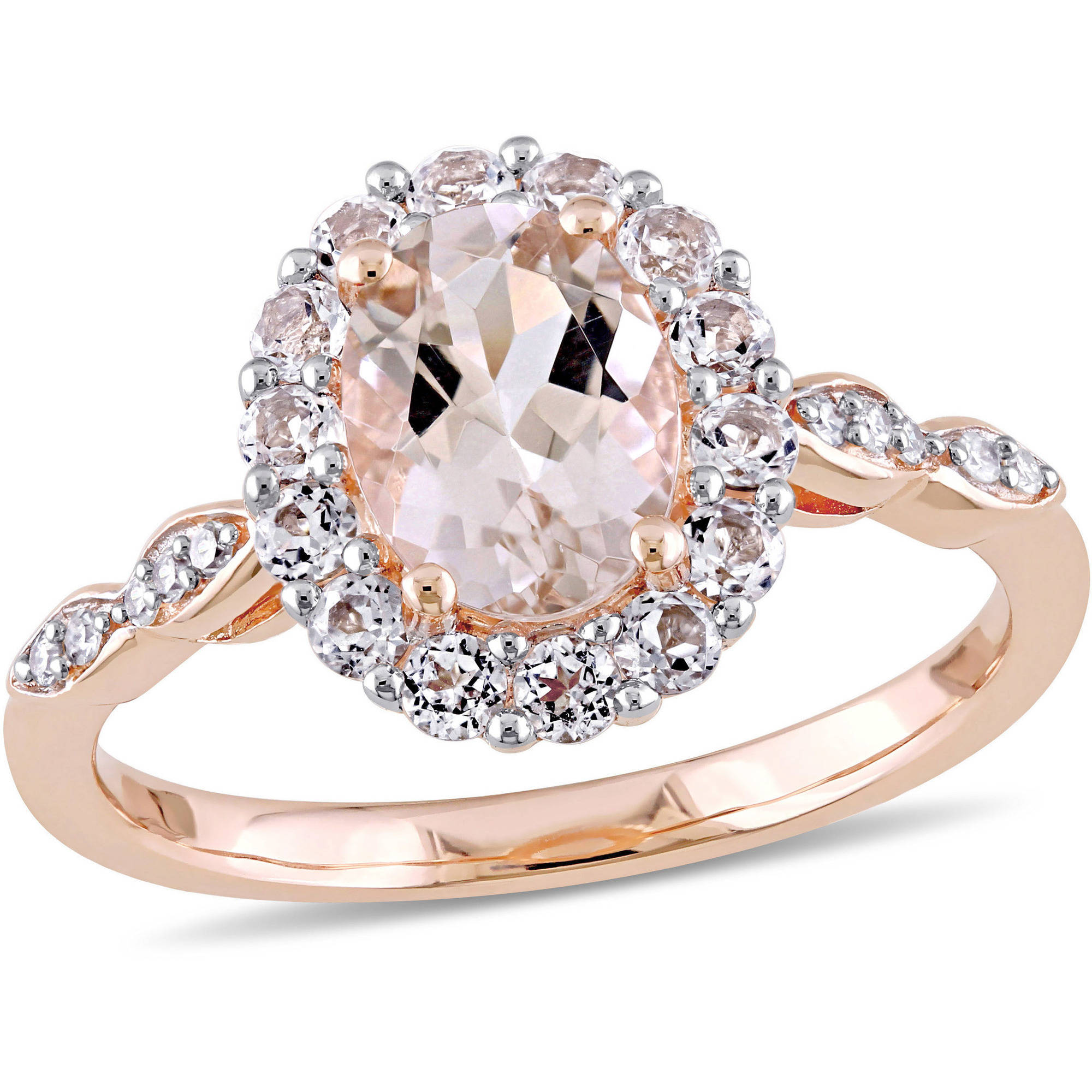 Tangelo 134 Carat TGW Morganite White Topaz and Diamond