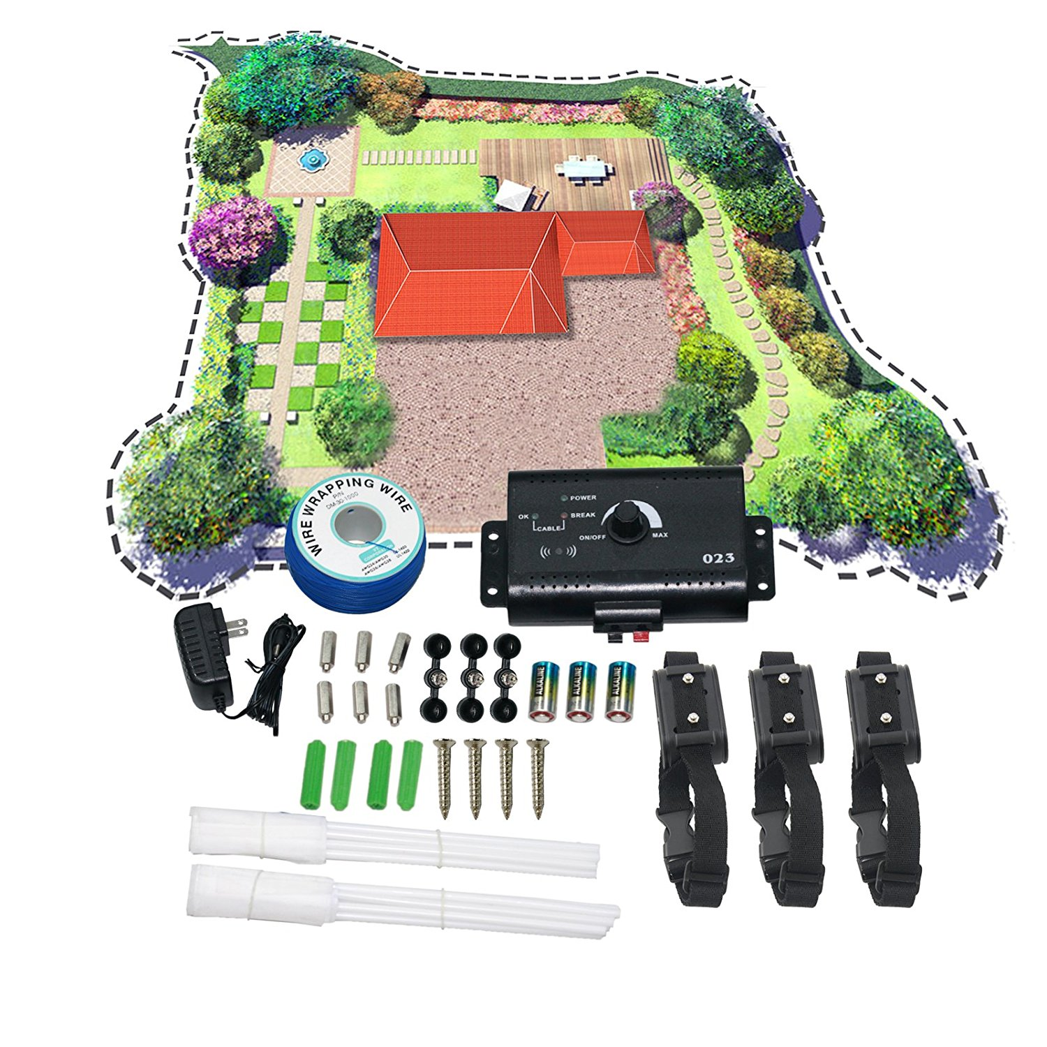 Underground Electric Dog Fence Waterproof Shock Collars 2 OR 3 Dogs