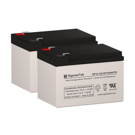- Freedom 644 Replacement Scooter Batteries (Set of 2 - 12V 12AH SLA Batteries)