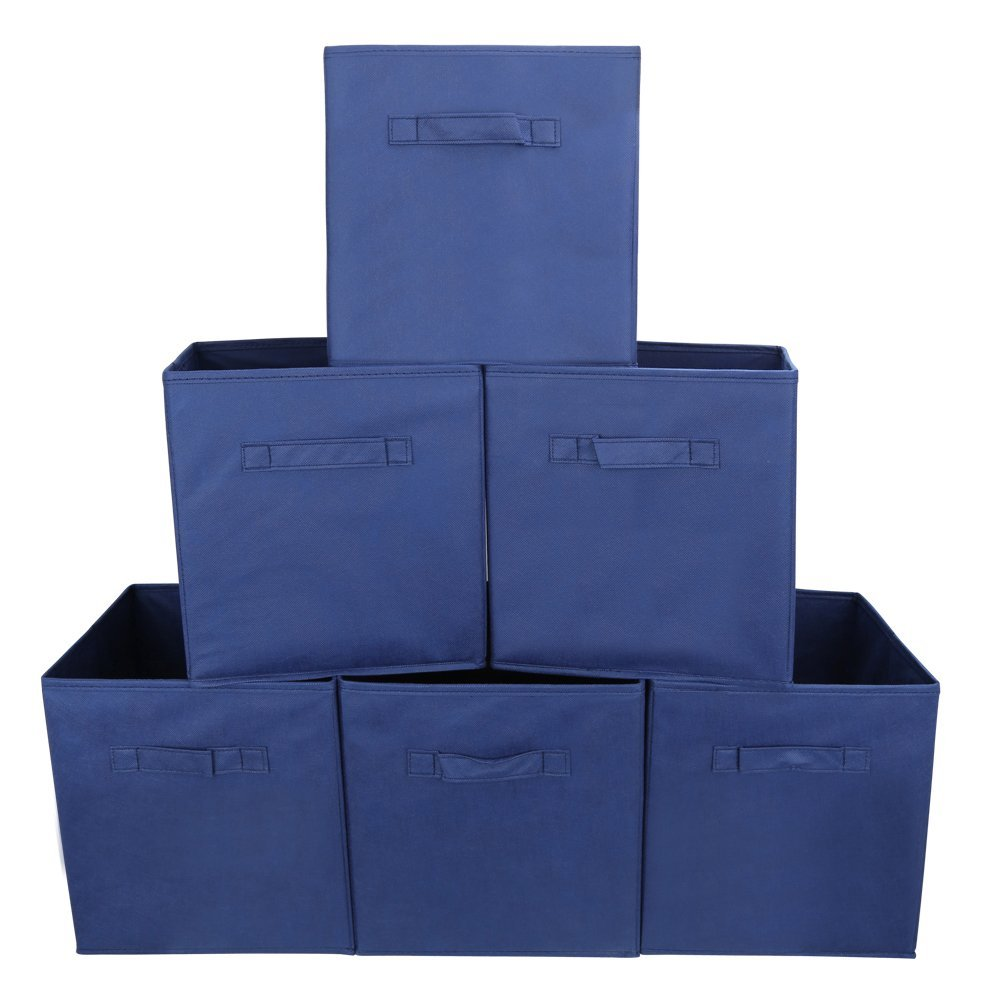 Foldable Cube Storage Bins   6 Pack   Decorative Fabric Storage Storage  Cube Basket Bins Organizer For Clothes Or Kids Toy Storage Unit    Walmart.com