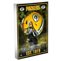 Green Bay Packers Highland Mint 4'' x 6'' Team Pride 3D Acrylic BlocKart - No Size