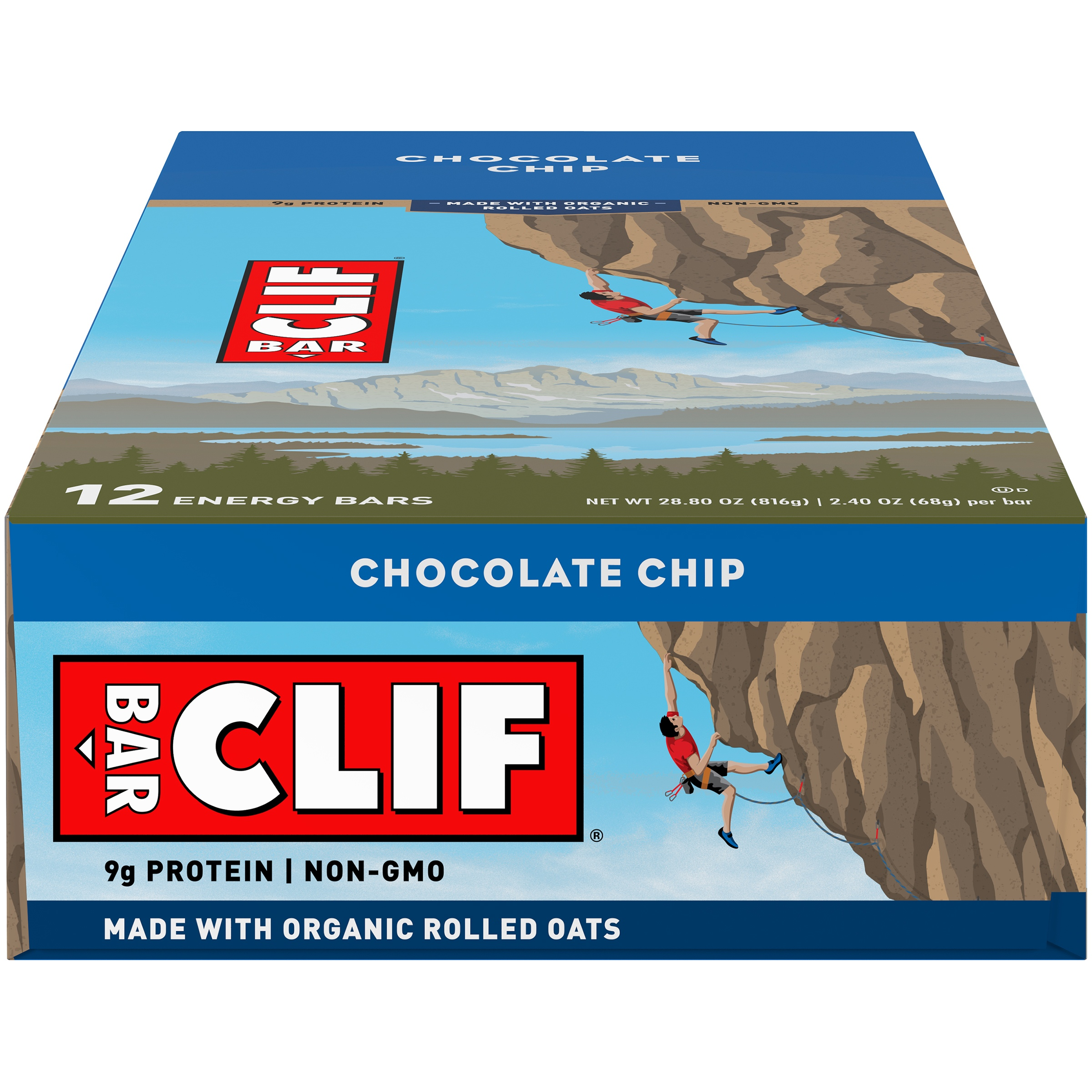 CLIF Bar® Chocolate Chip Energy Bar 12-2.4 oz. Bars