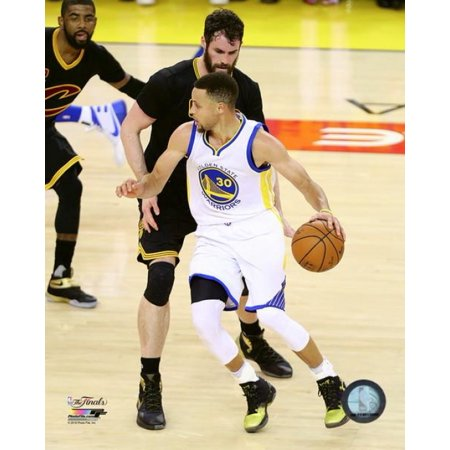 Kevin Love & Stephen Curry Game 7 of the 2016 NBA Finals Photo Print