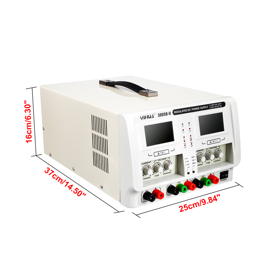 0~30V 0~5A Variable Adjustable Switching Precision DC Power Supply LED Display - image 4 de 5