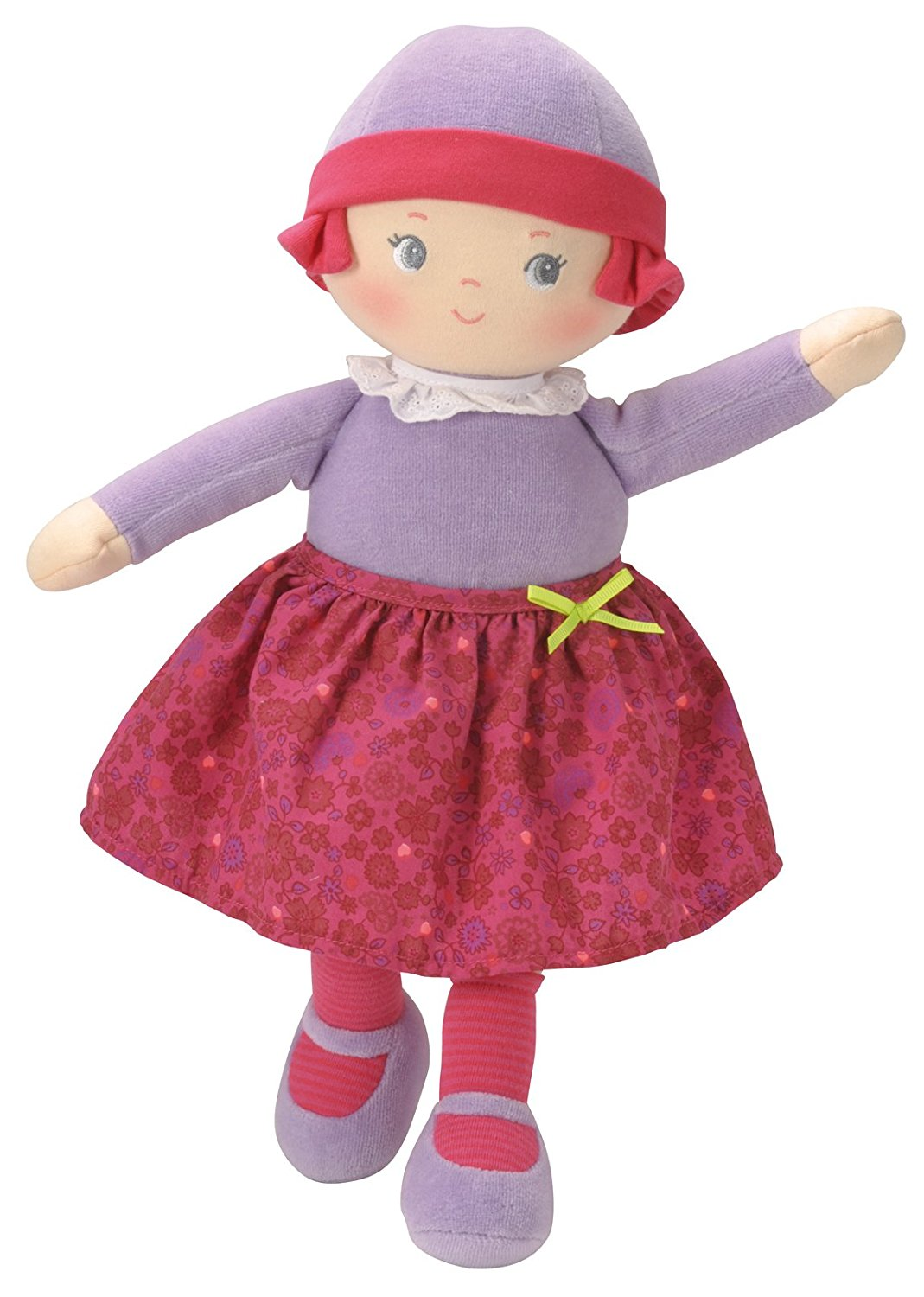 Mon Doudou Lili Grenadine's Heart, This pretty in pink all-cloth doll with embroidered features makes a great... by