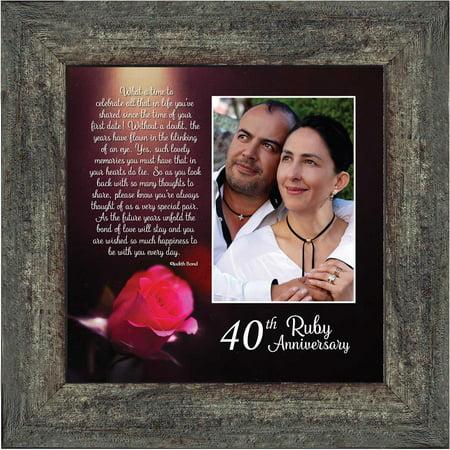 Ruby Anniversary, Personalized Ruby Wedding Anniversary Picture Frame, 40th Wedding Anniversary, 10x10 6307 - Walmart.com