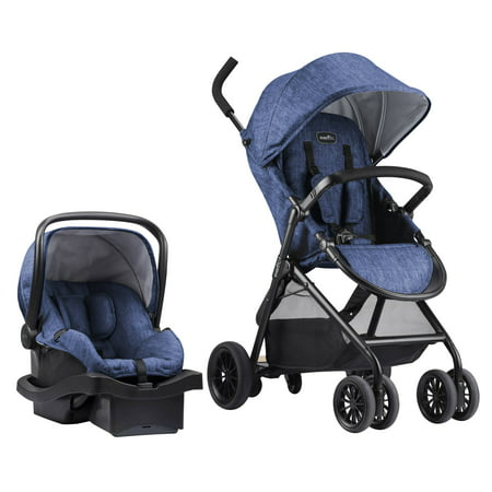 Evenflo Sibby Travel System with Litemax Infant Car Seat, Slate Blue