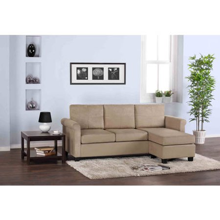Dorel Home Small Spaces Configurable Sectional Sofa, Multiple Colors ...