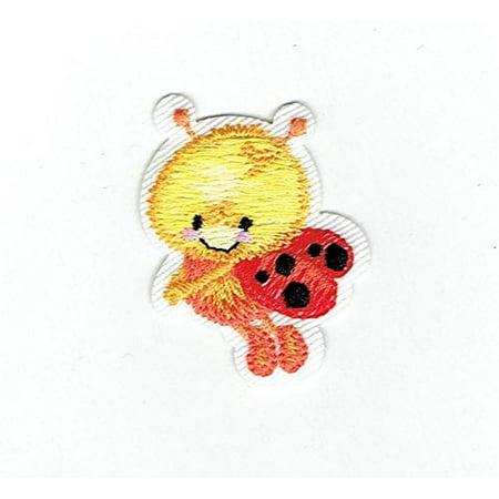 Flying Ladybug - Ladybug - Children's - Flying Left - Iron On Applique/Embroidered Patch