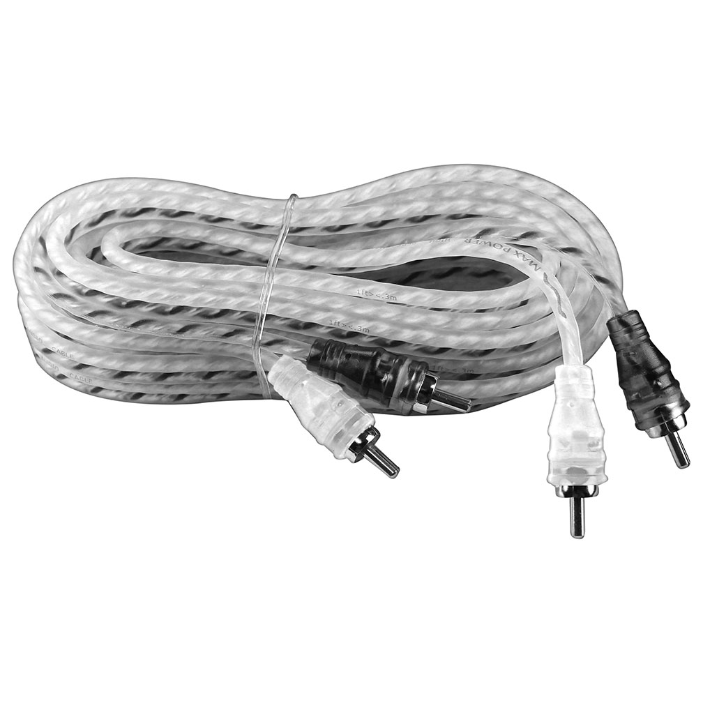 Max Power entry rca cable 17ft silver/black