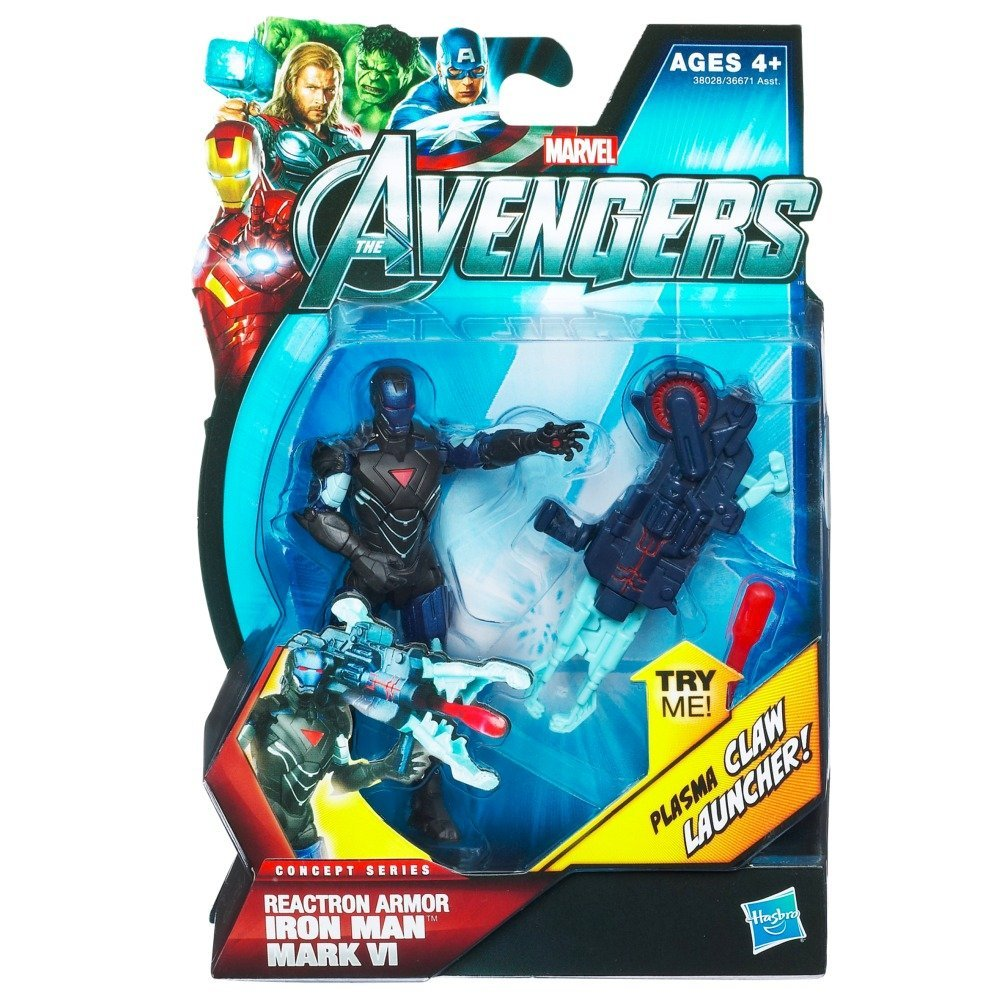 The Avengers 2012 Movie Series Reactron Armor Iron Man Mark VI 4 inch Action figure, Marvel Avengers Movie 4 Inch Action Figure Reactron Armor Iron Man By Hasbro Ship from US