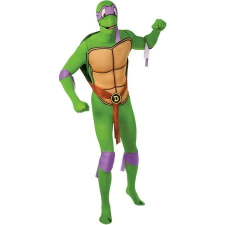 7ec998e7fa3 Mens Teenage Mutant Ninja Turtles Donatello 2nd Skin Jumpsuit Costume