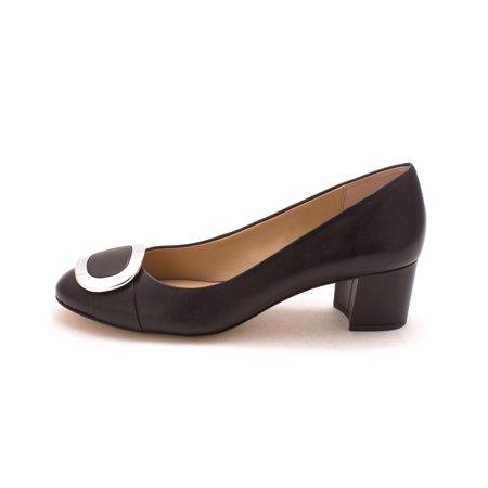 18153544cc8b Michael Michael Kors Womens Pauline Mid Pump Leather Closed Toe Classic  Pumps