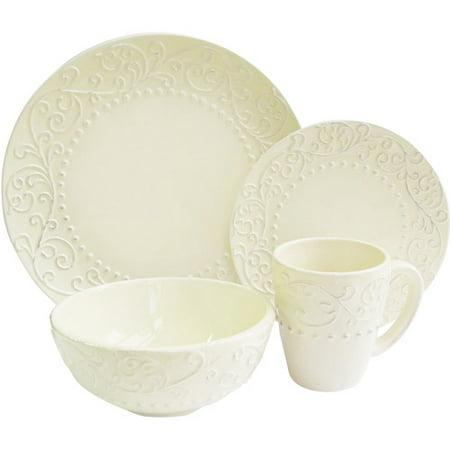 Image of American Atelier Bianca Cream 16-Piece Dinnerware Set