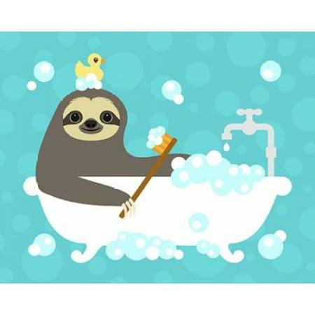 Scrubbing Bubbles Sloth Poster Print by  Nancy Lee](Sloth Rental)