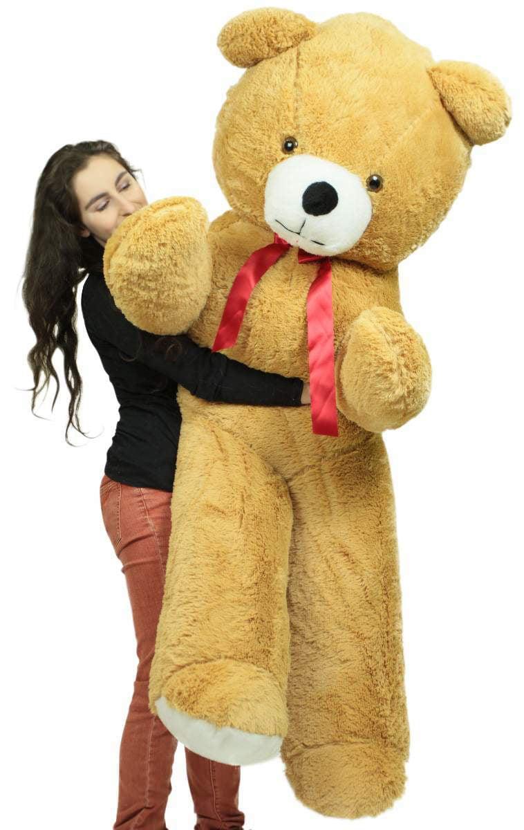 Big Plush 6 Foot Giant Brown Teddy Bear Soft 72 Inch Life Sized Stuffed Animal Made in USA by Big Plush
