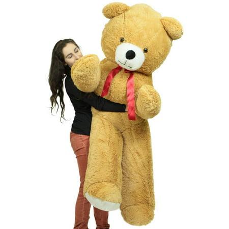 Big Plush 6 Foot Giant Brown Teddy Bear Soft 72 Inch Life Sized Stuffed Animal Made in USA ()