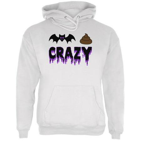 Halloween Bat Poop Crazy Mens Hoodie
