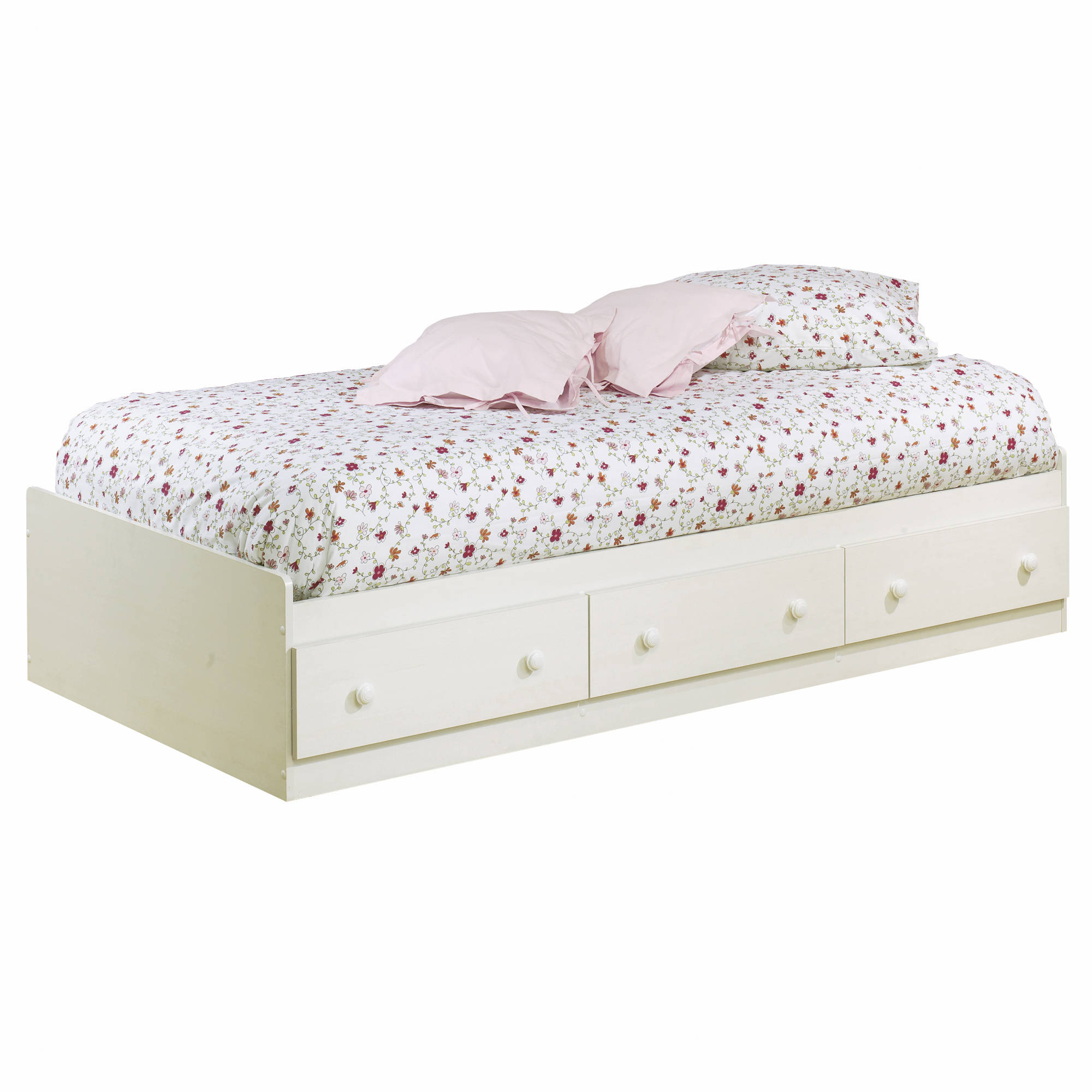 South Shore Summer Breeze Twin Mates Bed with 3 Drawers, 39'', Multiple Finishes