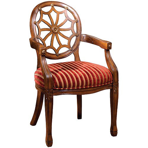 Venetian Edinburgh Accent Chair, Antique Oak