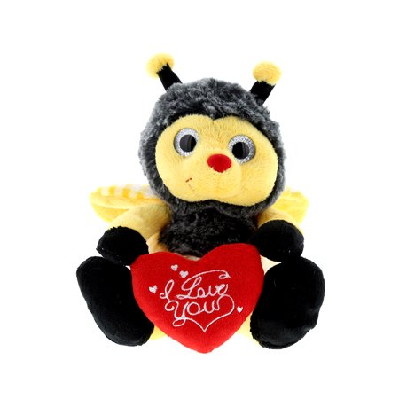 Super Soft Plush Dollibu Sitting Bumble Bee I Love You Valentines Plush (Bee Valentine)