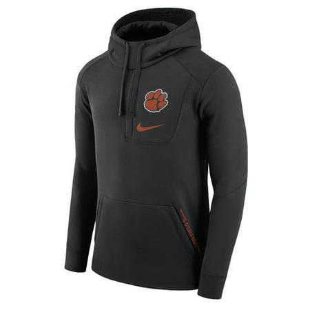 4f857f639502 Men s Nike Black Clemson Tigers Fly Fleece Pullover Hoodie - Walmart.com