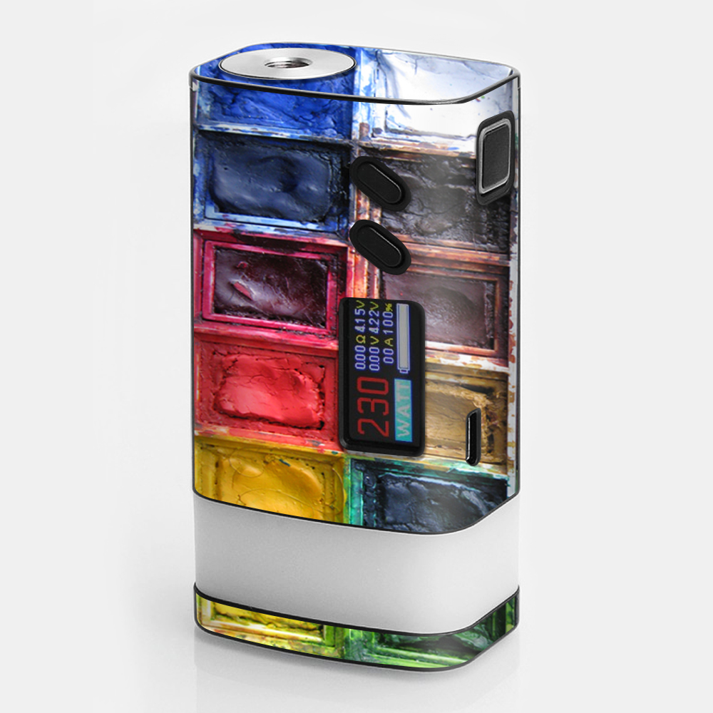Skin Decal For Sigelei Fuchai Glo Vape / Watercolor Tray Artist Painter