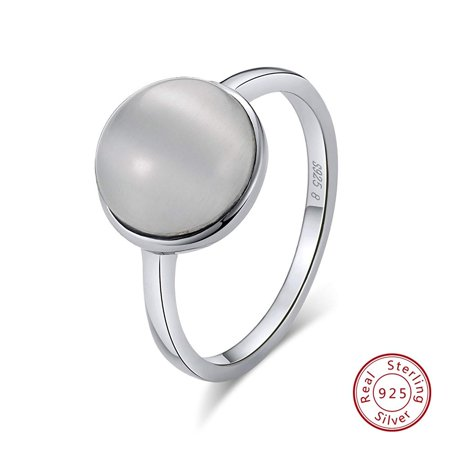 Sterling Silver Simulated Pearl Statement Wedding Bridal Ring
