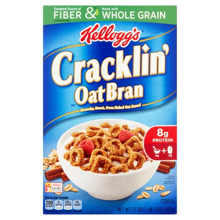 Kellogg's Cracklin Oat Bran Cereal, 17 ounce box - Walmart.com