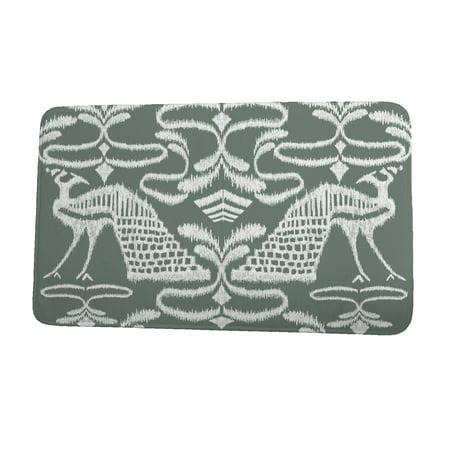 24 x 36 Inch Tropical Resort Crown Gray Animal Print Bath Mat Gray Animal Print