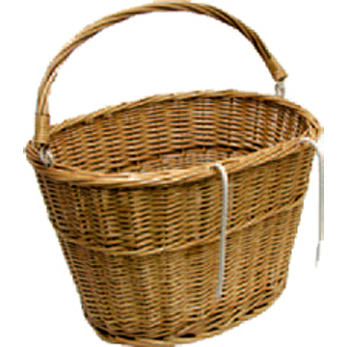 Summit Wicker Bicycle Basket w/Handle/Hooks