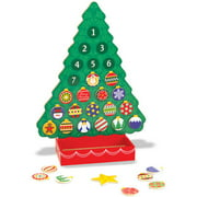 Melissa & Doug Wooden Advent Calendar - Magnetic Christmas Tree, 25 Magnets