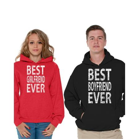 a708ffa950 Awkward Styles Girlfriend Boyfriend Matching Couple Hoodies Best Girlfriend  Ever Sweatshirt Best Boyfriend Ever Sweater Valentine's Day Cute Matching  Couple ...