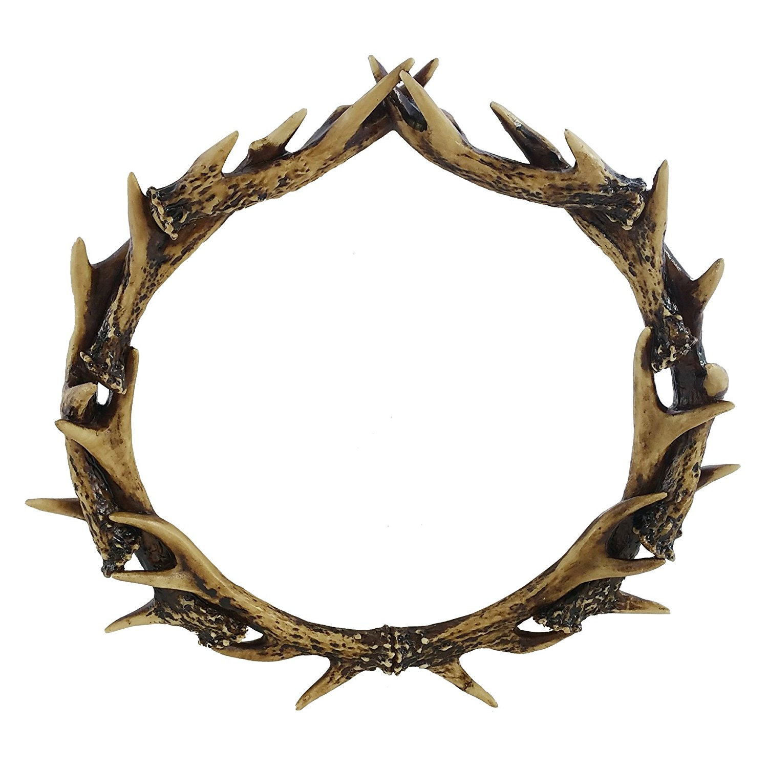 "Pine Ridge Rustic 12"" Deer Stag Antler Wreath Antler Shed Faux Taxidermy Home Decor"