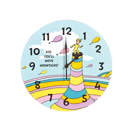 Trend Lab Dr. Seuss Kid Wall Clock, You'll Move Mountains for $<!---->