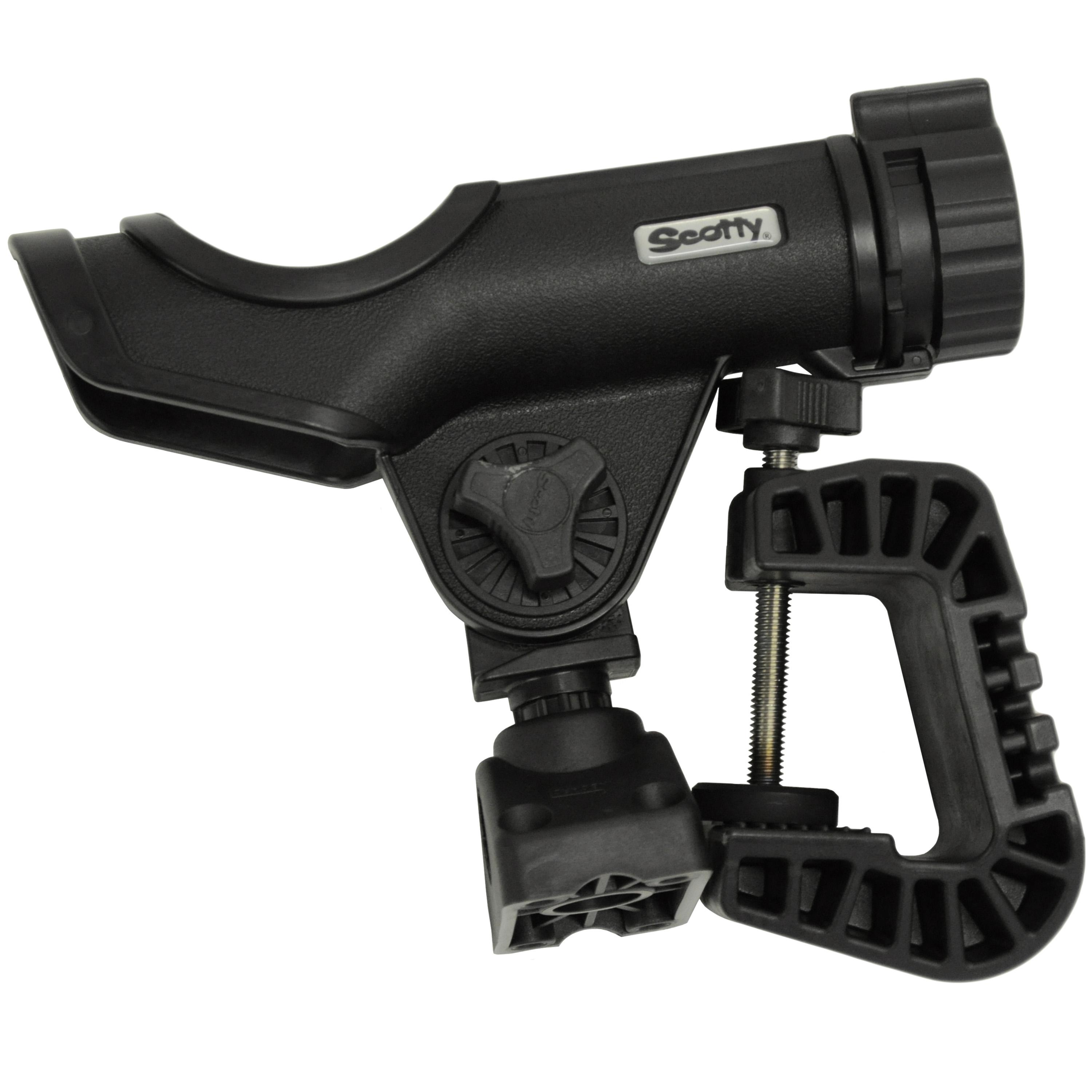 Scotty Powerlock Rod Holder with Portable Clamp Mount