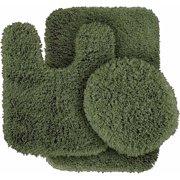 bathroom rug sets. Serendipity Shaggy Nylon 3 Piece Washable Bathroom Rug Set Sets