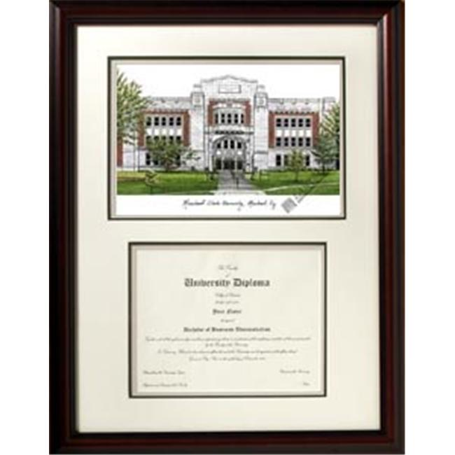 Campus Images KY985V Morehead State University Scholar Framed Lithograph with Diploma